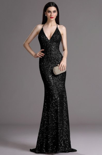 6d0f1c1c4a84 Plesové šaty s flitrami čierne