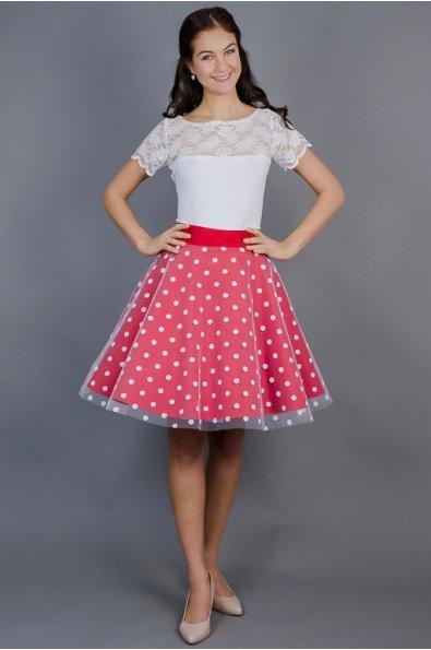 cervena-puntikata-sukne
