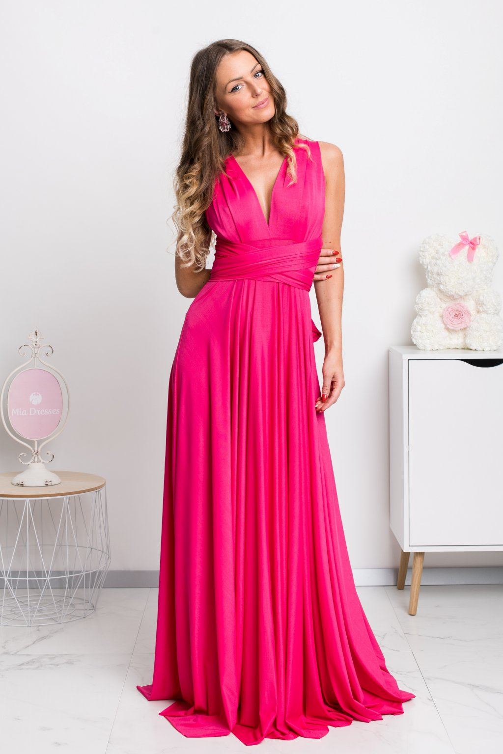 Cyclamen tie formal dress
