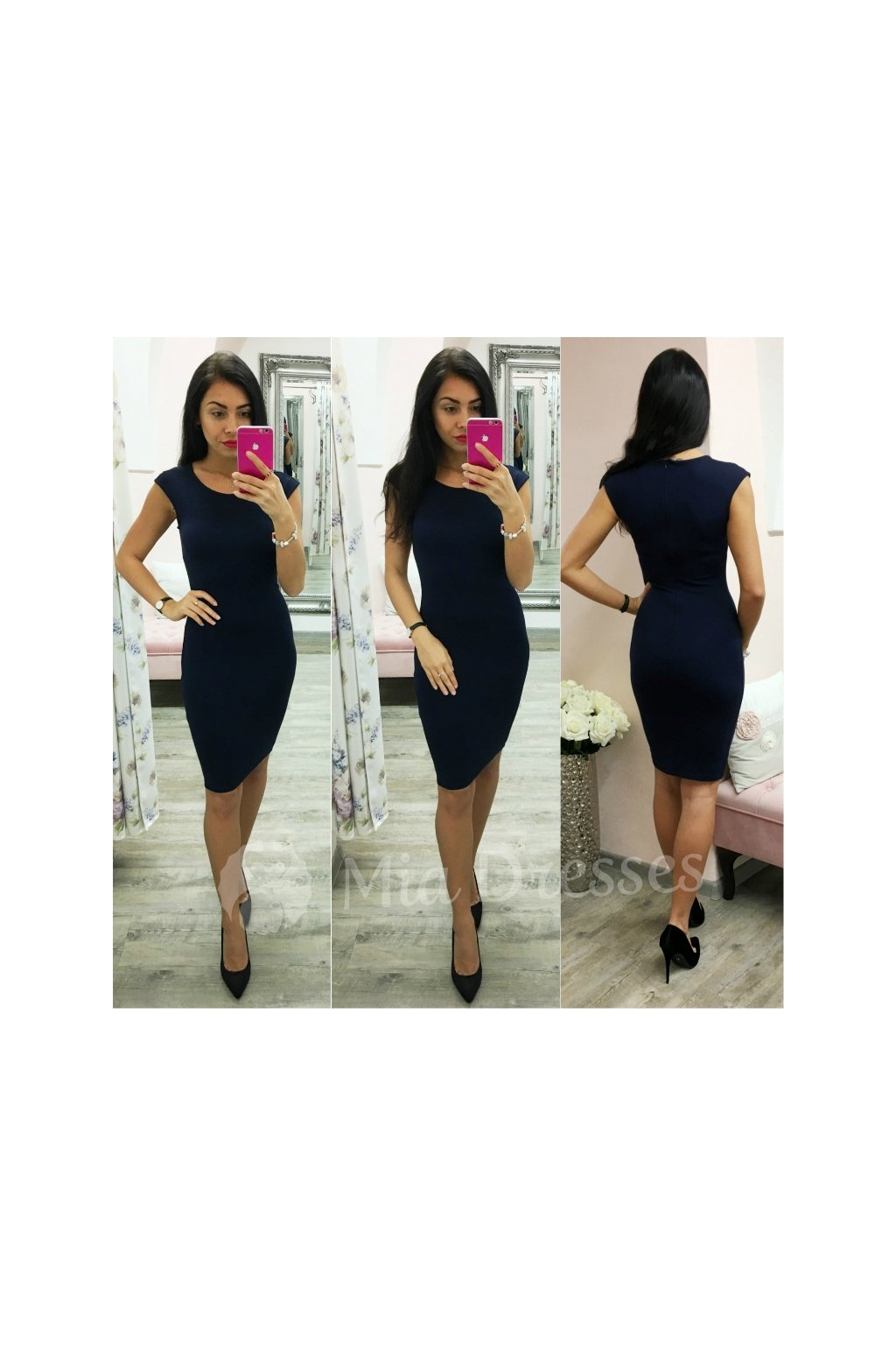 Dark blue bodycon dress