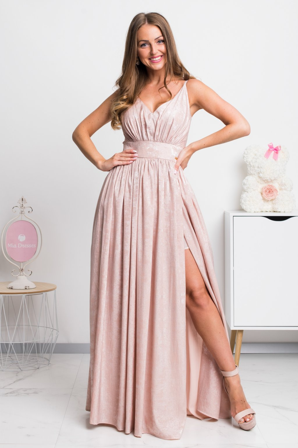 Gold shine formal dress