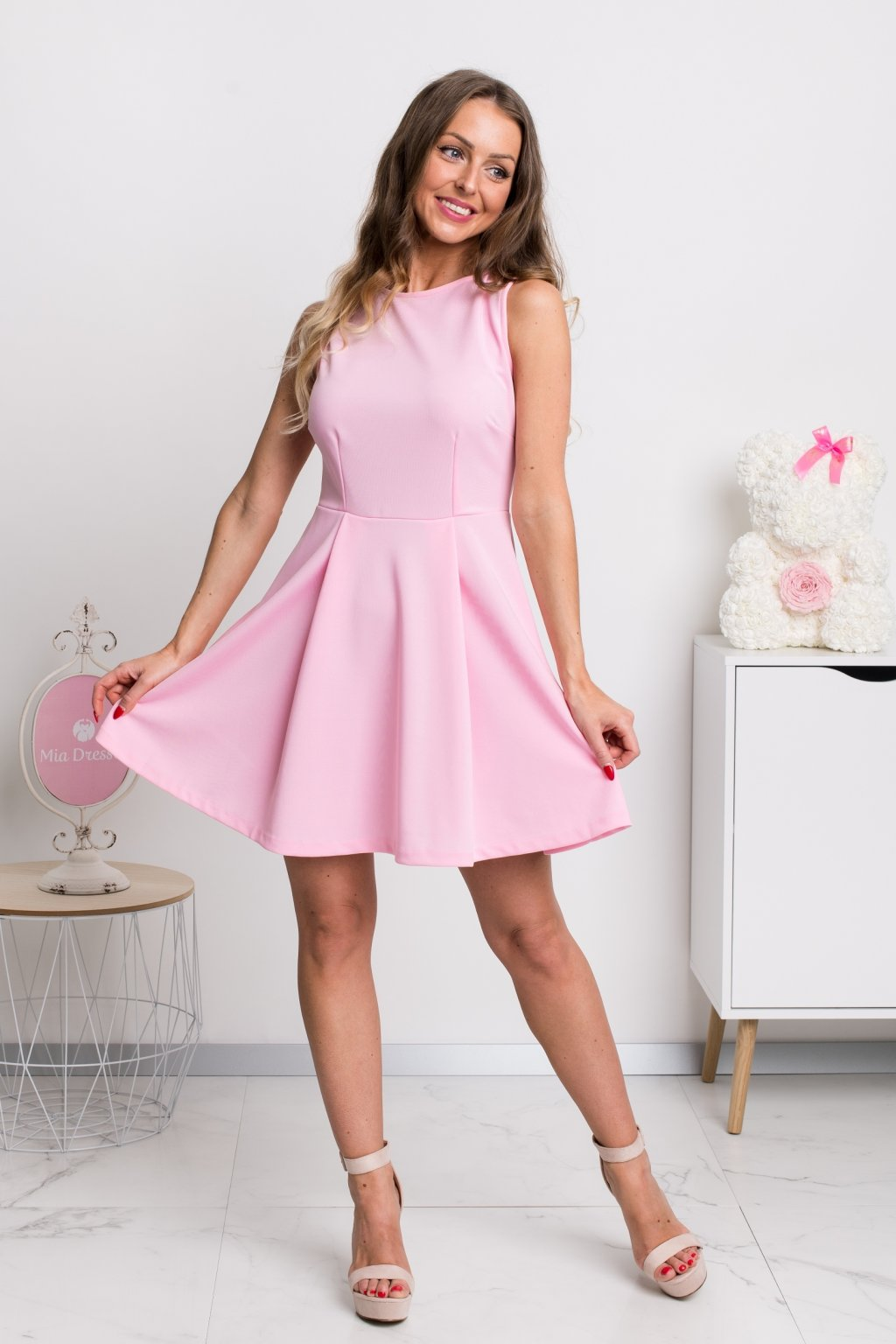Light pink a-line mini dress