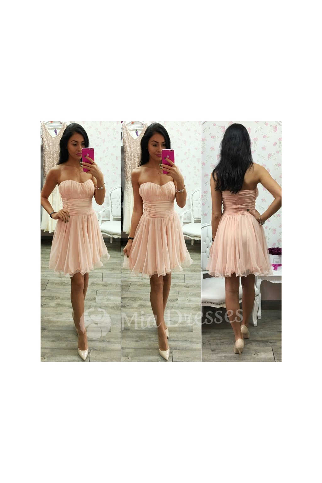 Powder formal dress