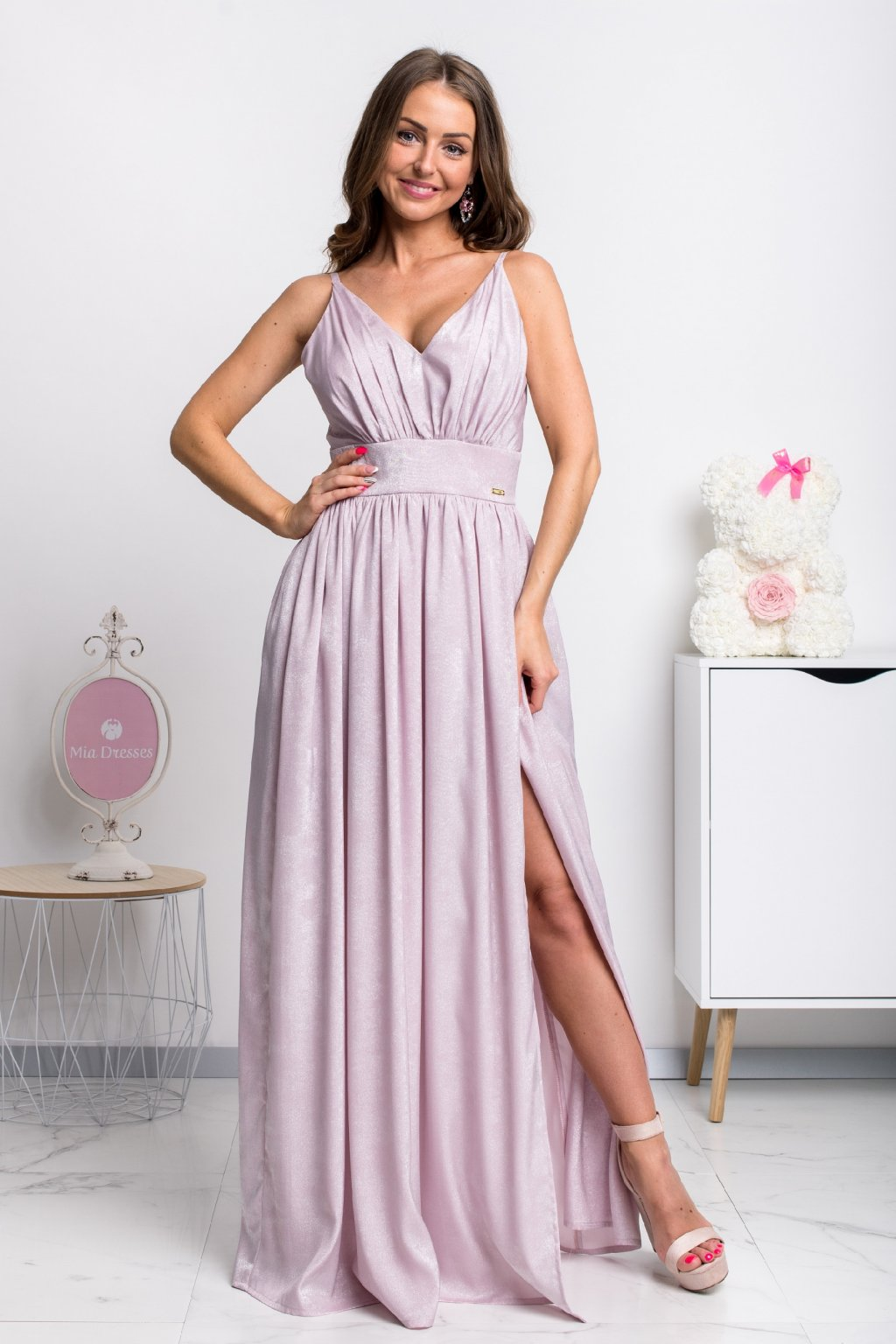 Purple shine formal dress
