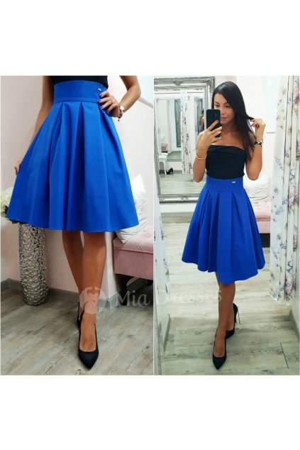 Blue a-line short skirt