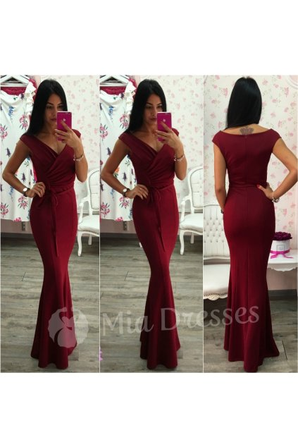 Burgundy formal maxi dress