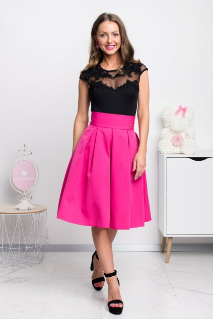 Cyclamen a-line short skirt