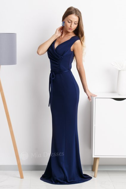 Dark blue formal maxi dress