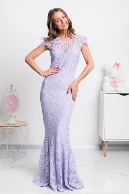 Purple lace formal dress