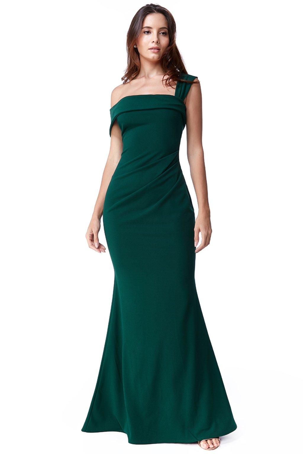 Zelené priliehavé spoločenské šaty