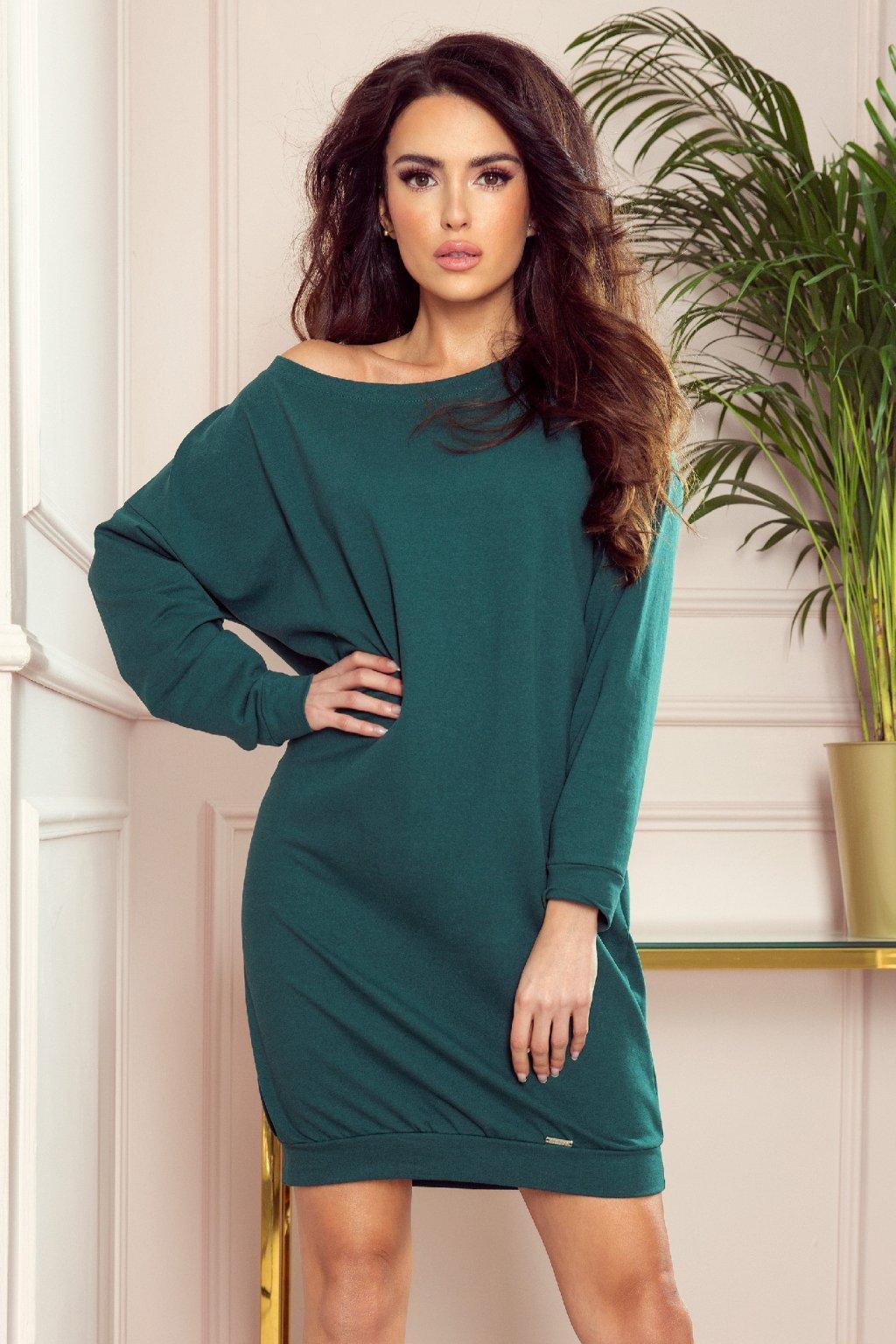 Zelené krátke voľné šaty