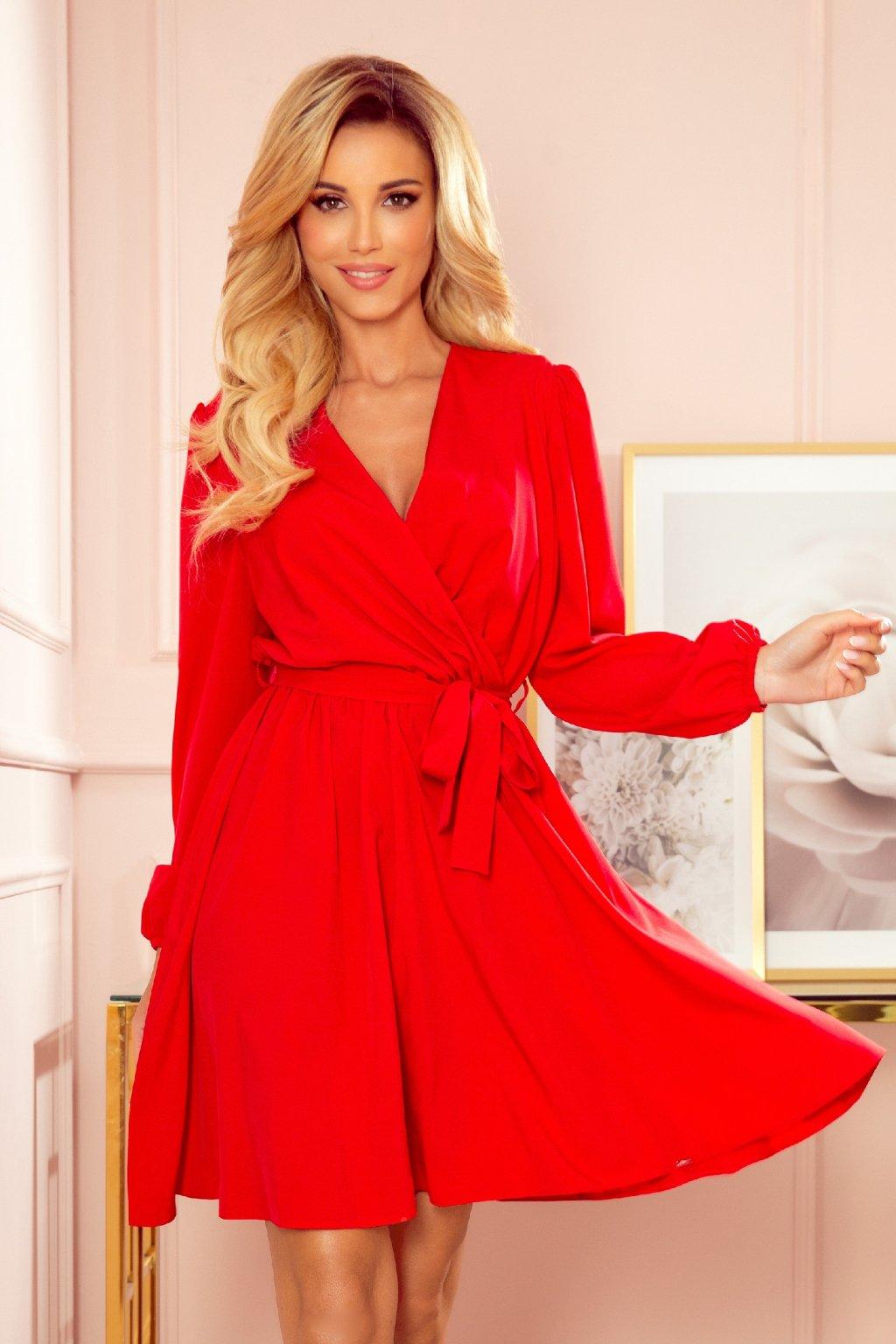 Červené krátke šaty