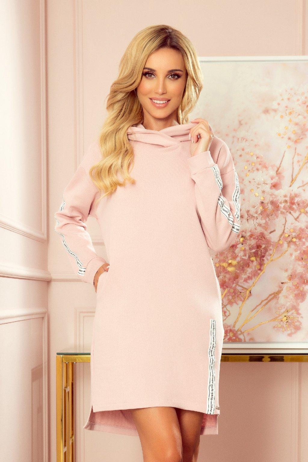 Ružové mikinové šaty