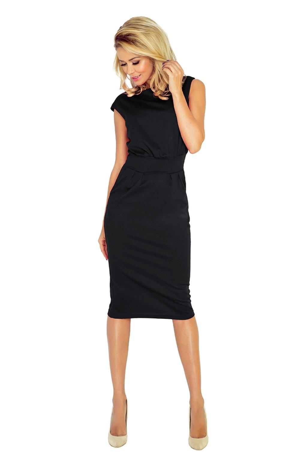Čierne midi šaty