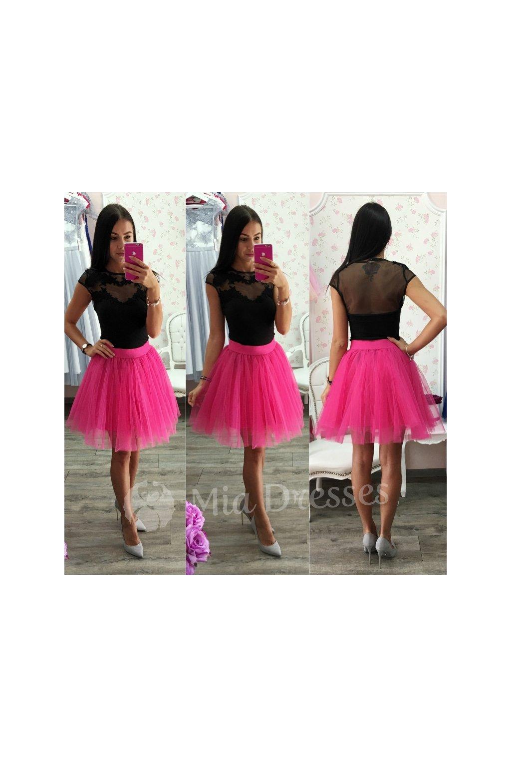 Cyklaménová krátka tylová tutu sukňa - Mia Dresses 895e4d0918