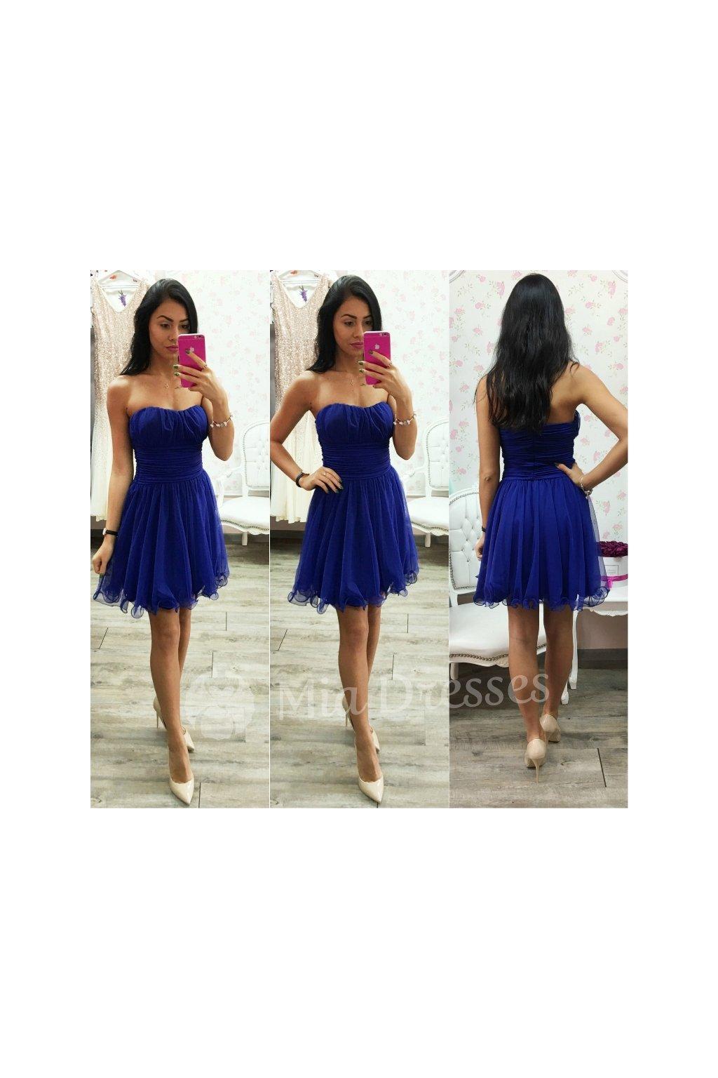 db3c53177af4 Modré spoločenské šaty - Mia Dresses