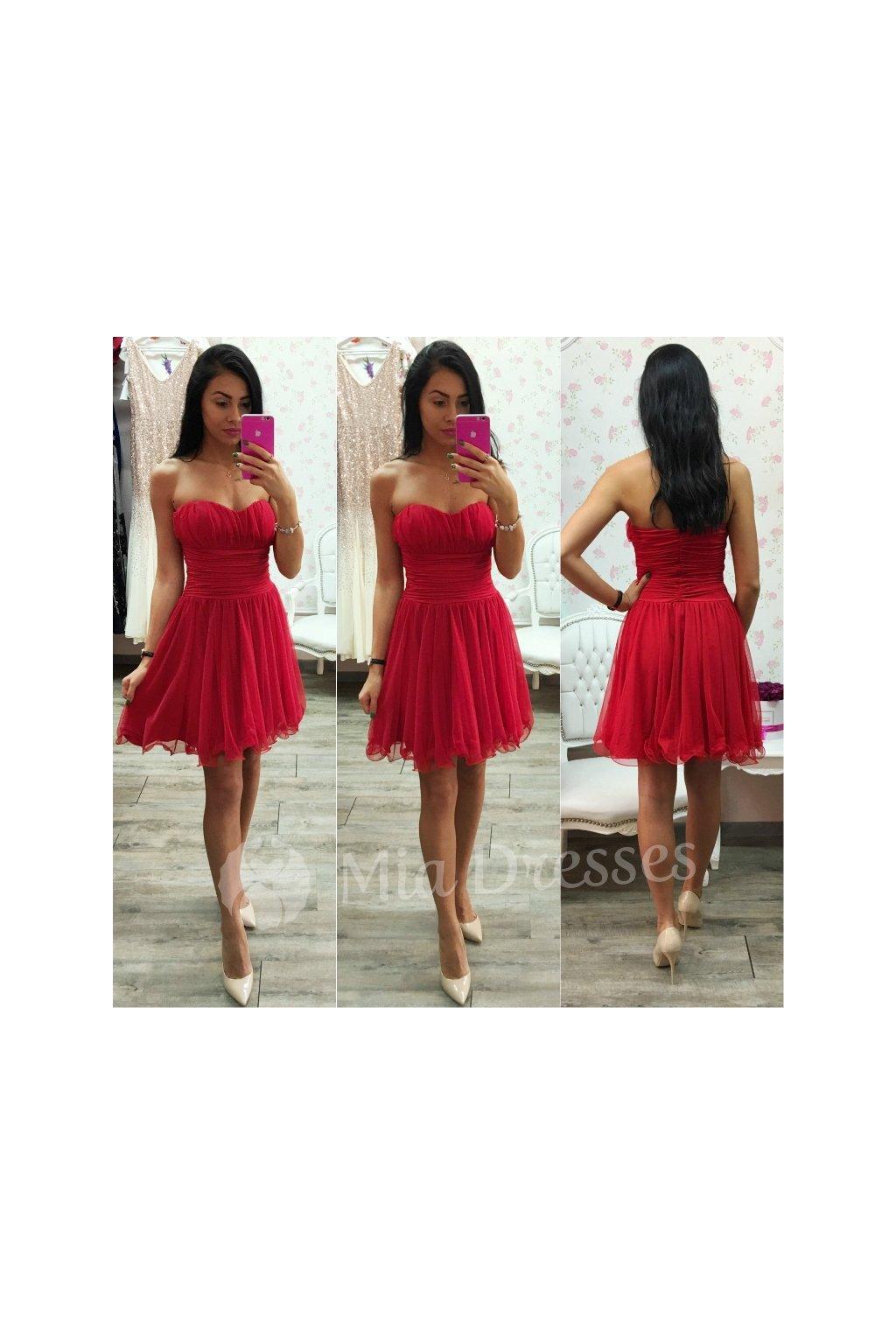 08ea0e1d3 Červené spoločenské šaty - Mia Dresses