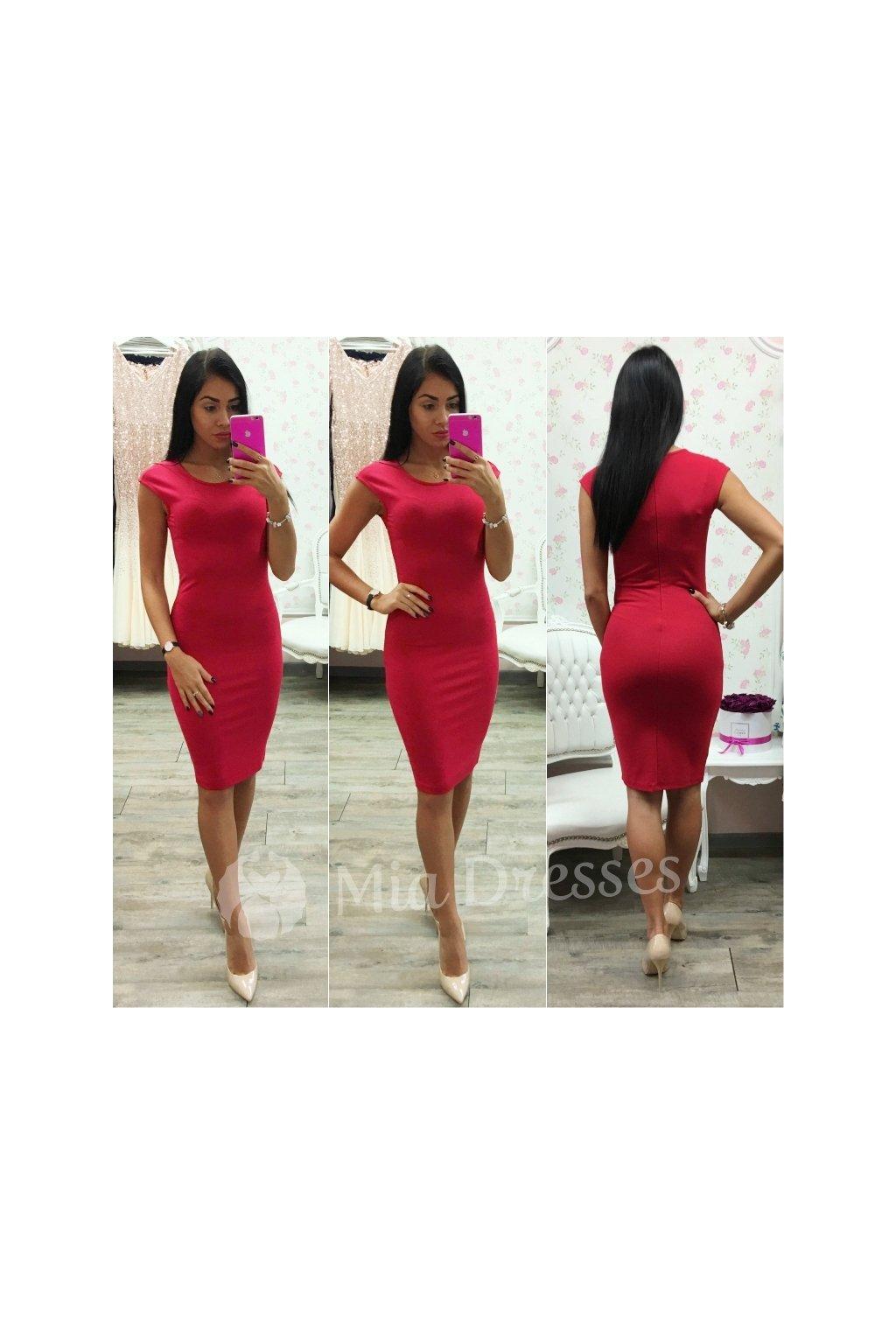 Červené priliehavé šaty