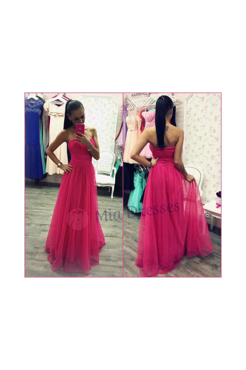 Ružové dlhé šaty - Mia Dresses eaffd7dce7d