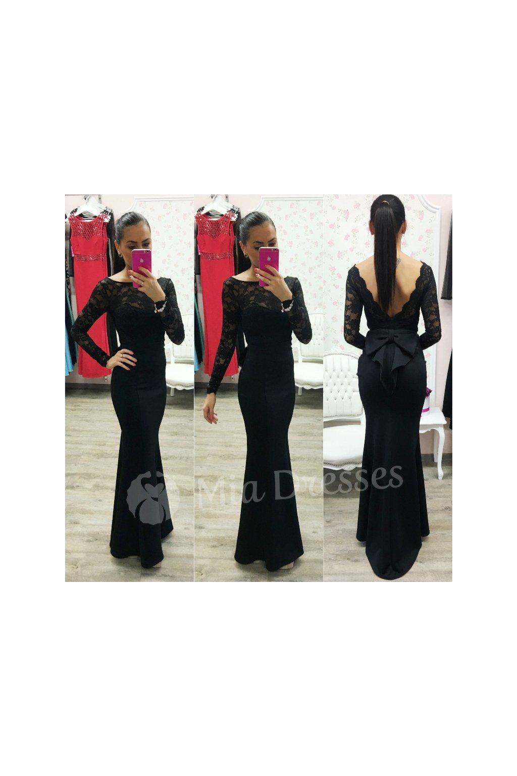 535c1d0e9323 Červené dlhé šaty s mašľou - Mia Dresses