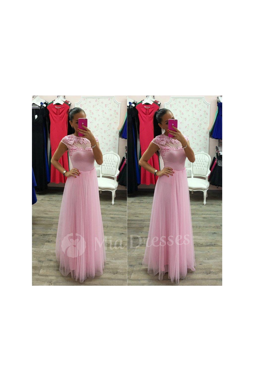 Ružová dlhá tylová sukňa - Mia Dresses 59a443a795