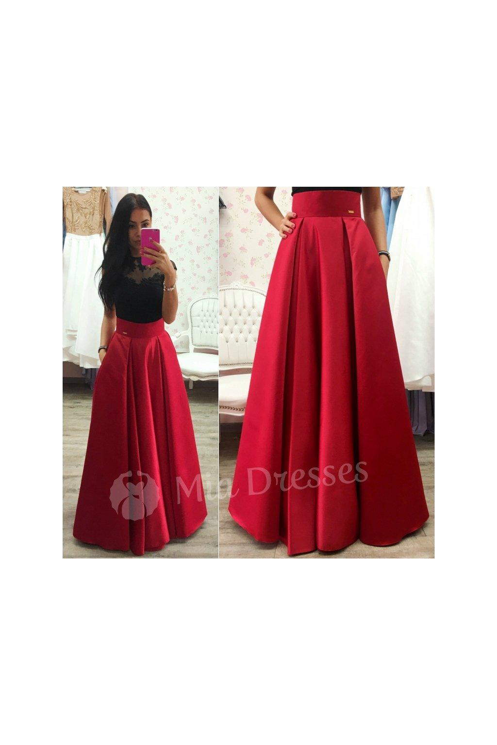 25c3d2f2217f Červená dlhá sukňa - Mia Dresses