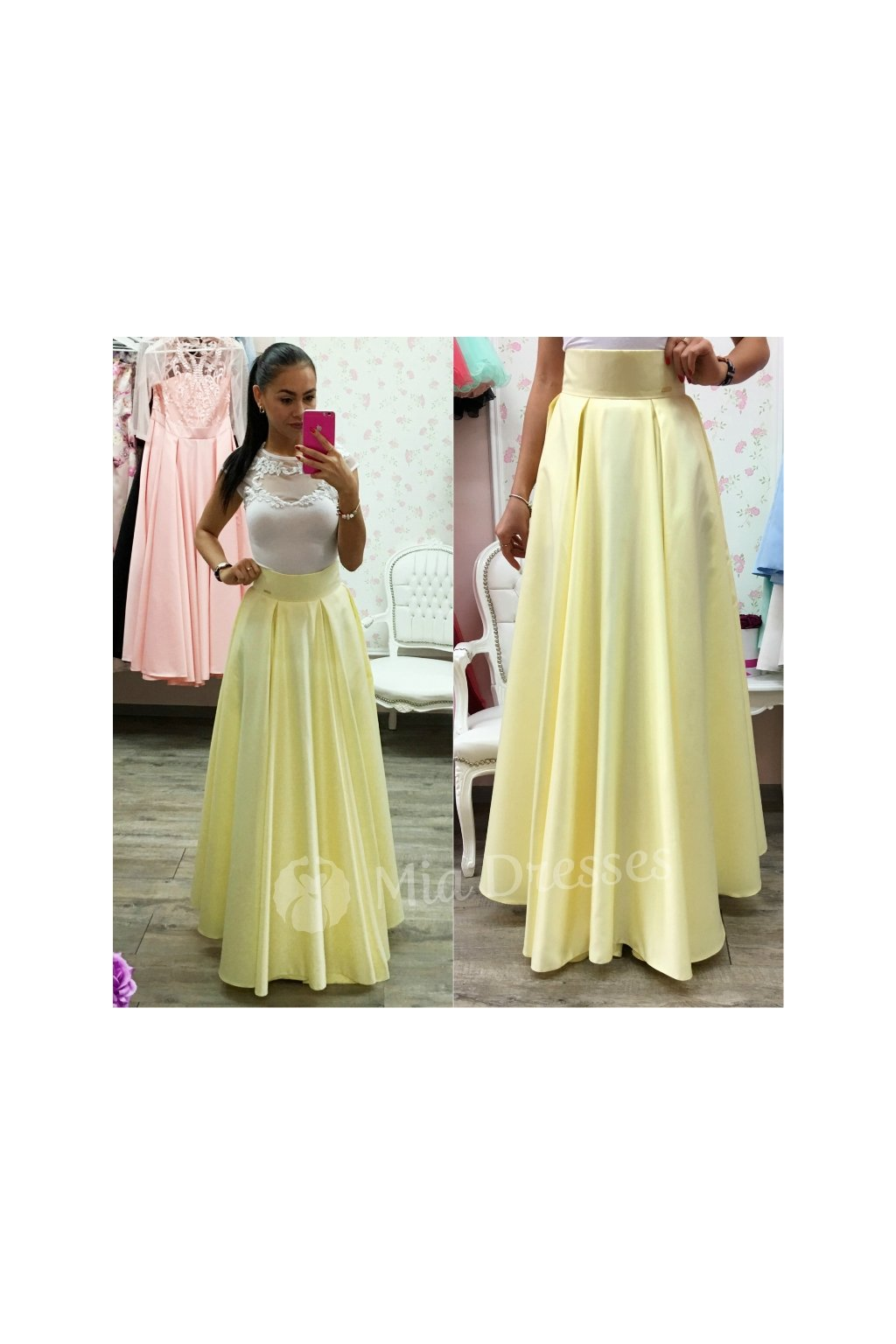 2253a660ed50 Žltá dlhá sukňa - Mia Dresses
