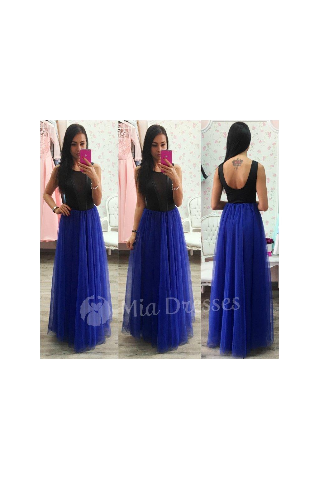 d0cf119cd4b9 Modrá dlhá tylová sukňa - Mia Dresses