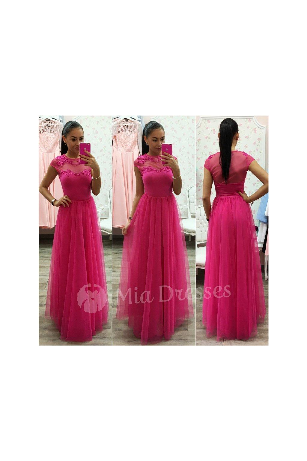10b709aee342 Ružová dlhá tylová sukňa - Mia Dresses