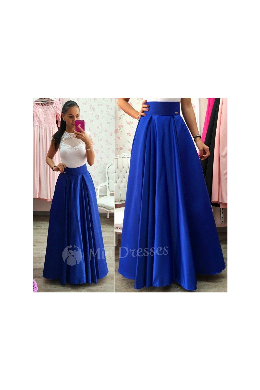 17ba36b9af06 Modrá dlhá sukňa - Mia Dresses