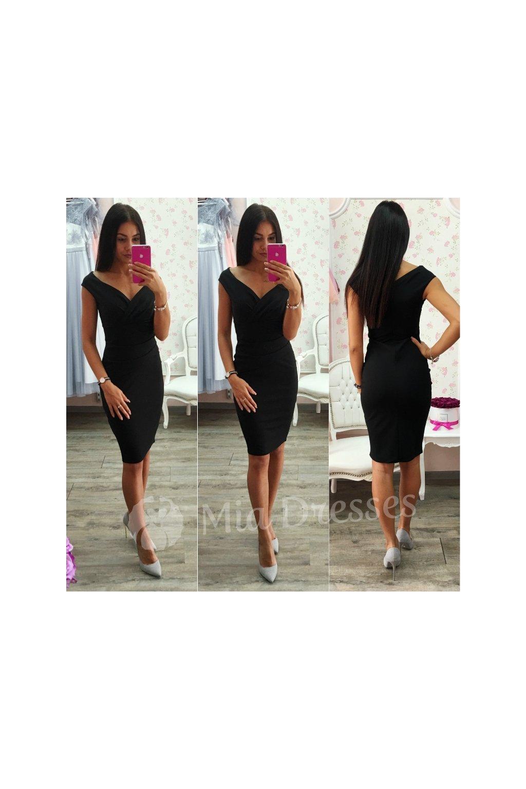 Červené krátke priliehavé šaty - Mia Dresses 4d644a5e6de