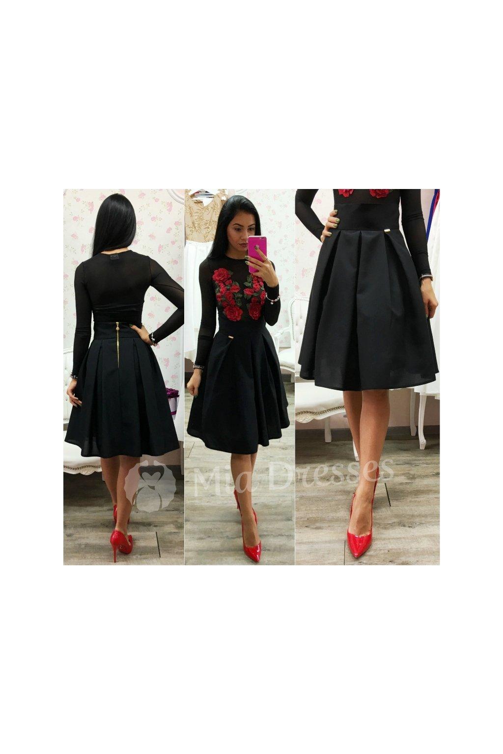 62673be8893a Čierna áčková krátka sukňa - Mia Dresses