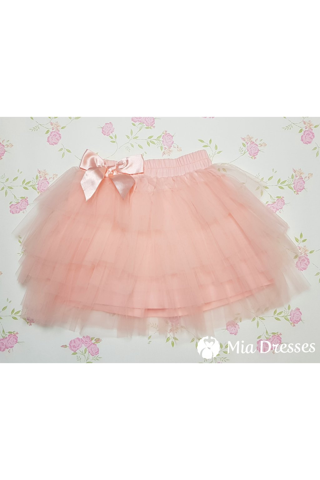 f9d471a88b98 Ružová detská tylová sukňa - Mia Dresses