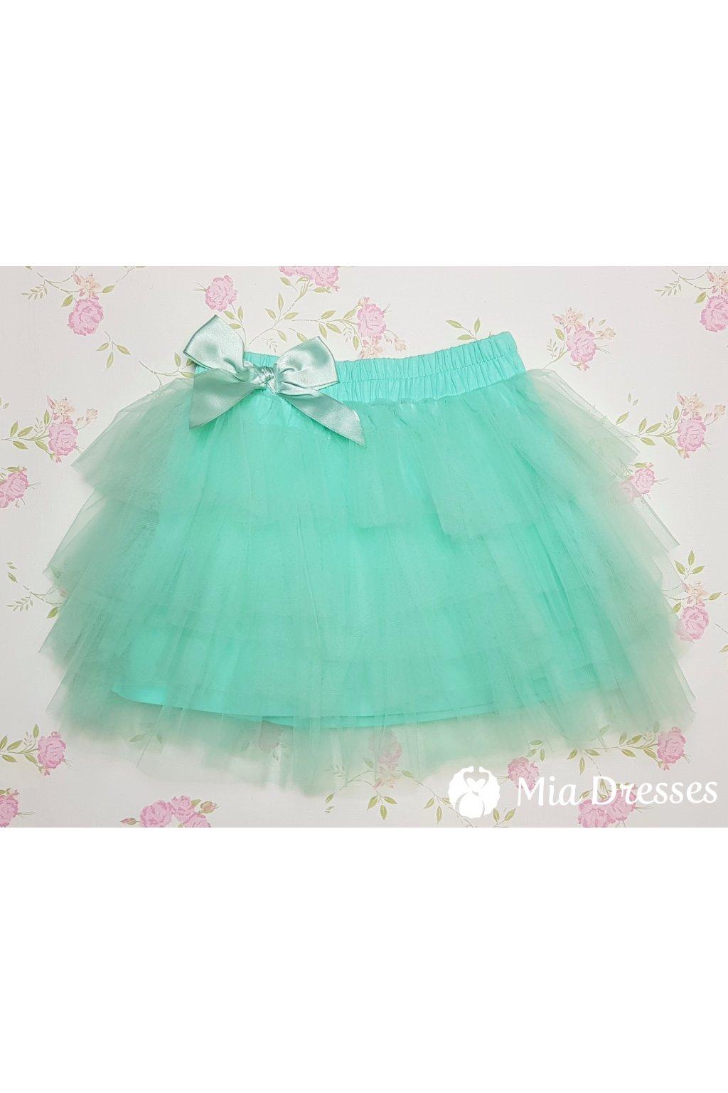 58d466a82104 Cyklaménová detská tylová sukňa - Mia Dresses