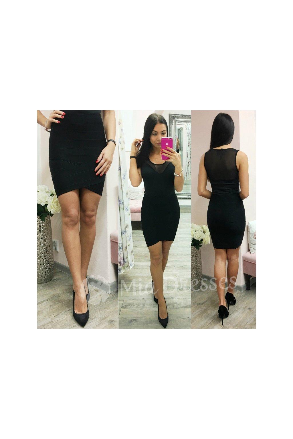 Čierna krátka priliehavá sukňa