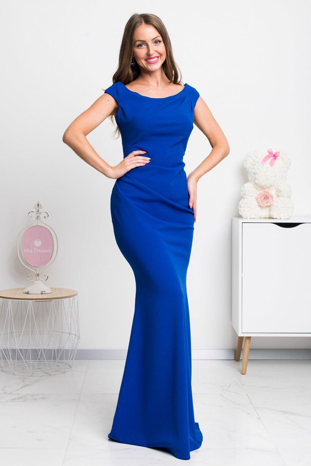 9a911c6bd3f Modré dlhé šaty - Mia Dresses