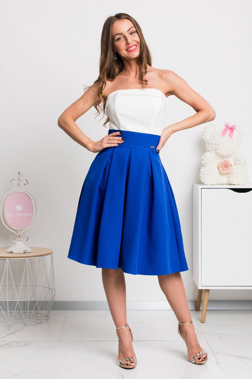 Modrá áčková krátka sukňa