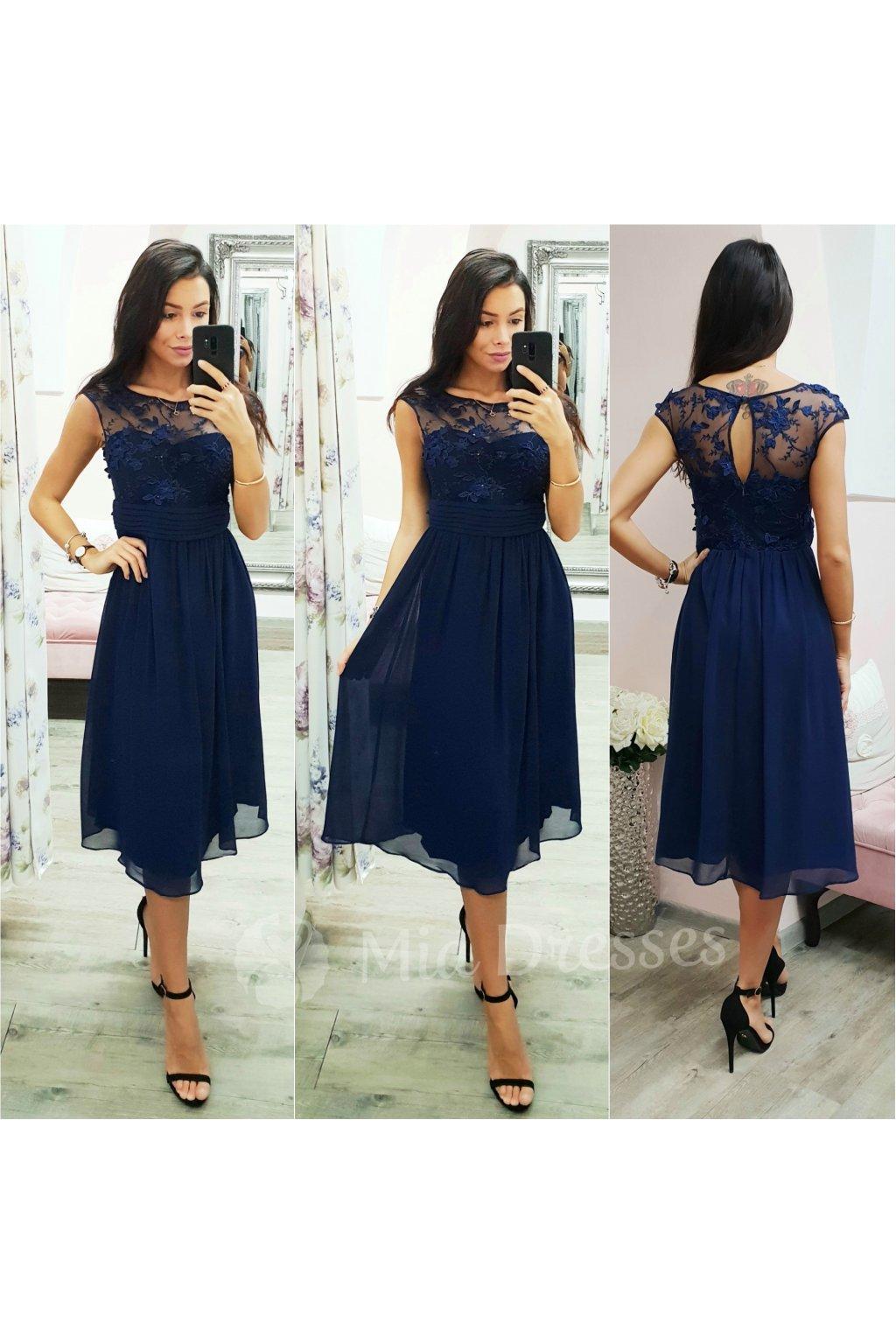 32779cdfbeca Smotanové šifónové spoločenské šaty - Mia Dresses
