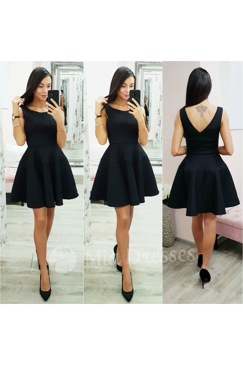 Čierna farba - Mia Dresses fc9ad055b00