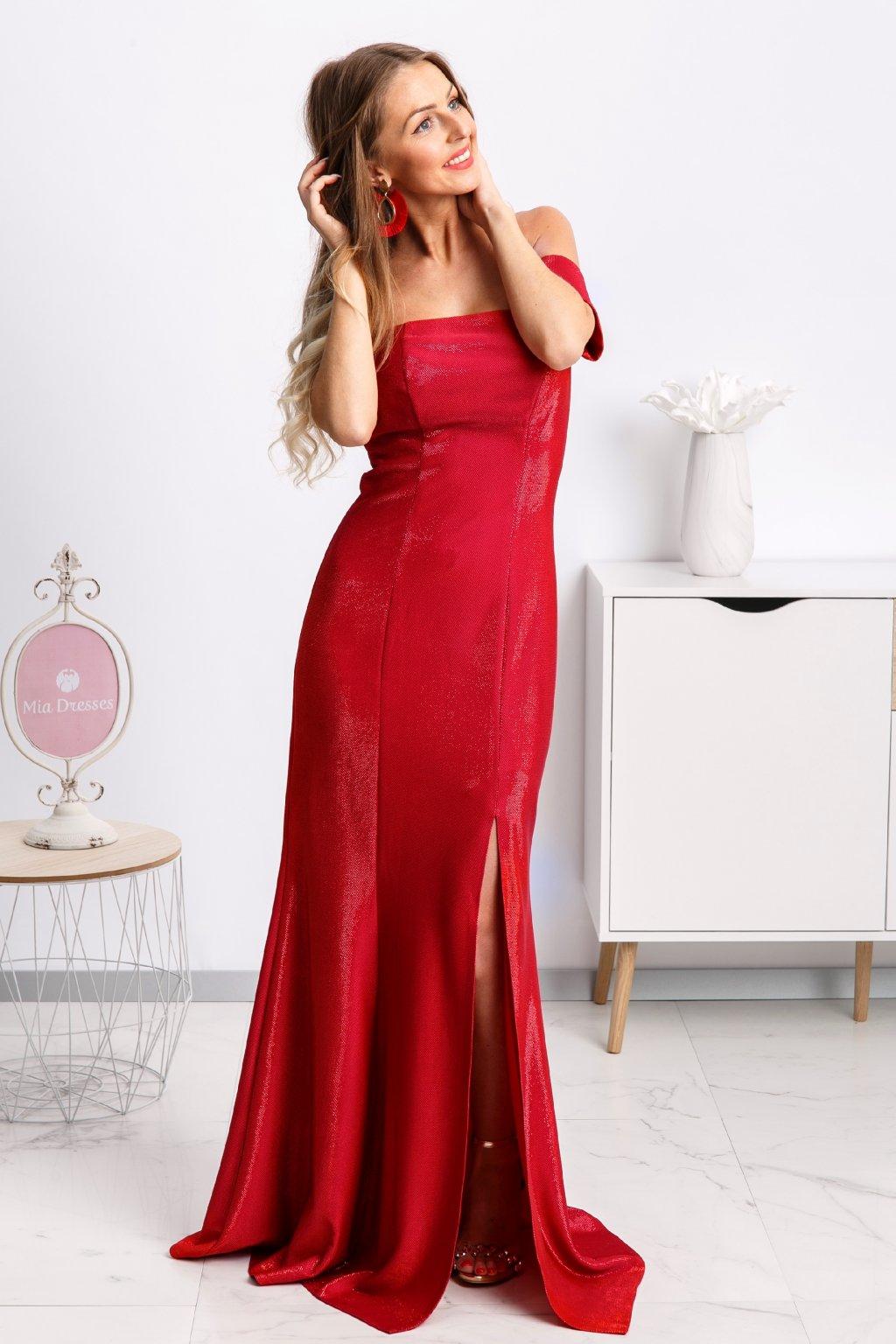 a03f39d2c3c6 Červené dlhé šaty - Mia Dresses