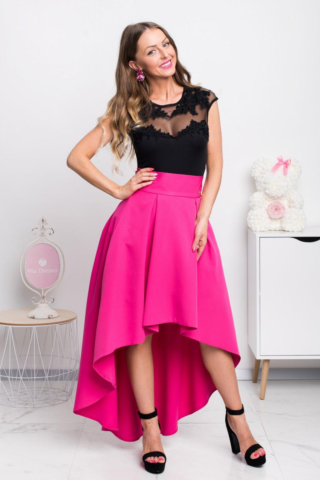 Cyklaménová asymetrická sukňa