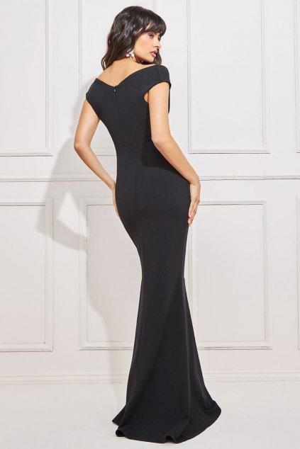 Čierne spoločenské priliehavé šaty