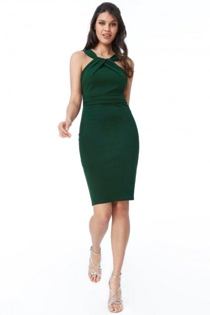 Zelené midi šaty