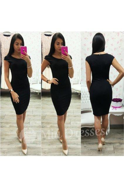Čierne priliehavé šaty