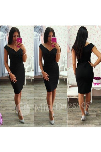 Čierne krátke priliehavé šaty