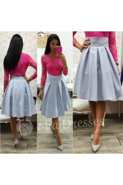 Sivá áčková krátka sukňa