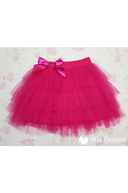 Cyklaménová detská tylová sukňa