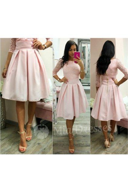 Svetloružová áčková krátka sukňa