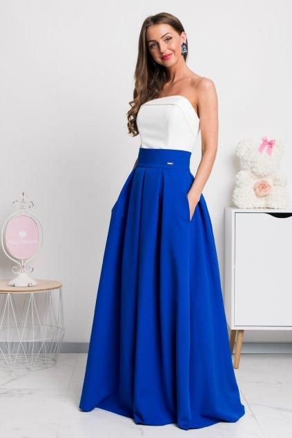 Modrá dlhá sukňa