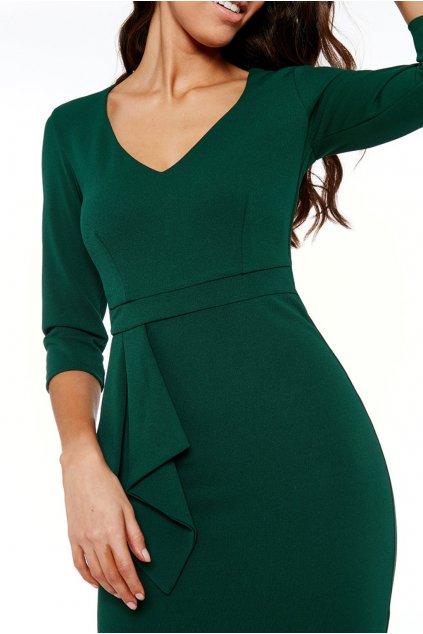 Smaragdové midi šaty